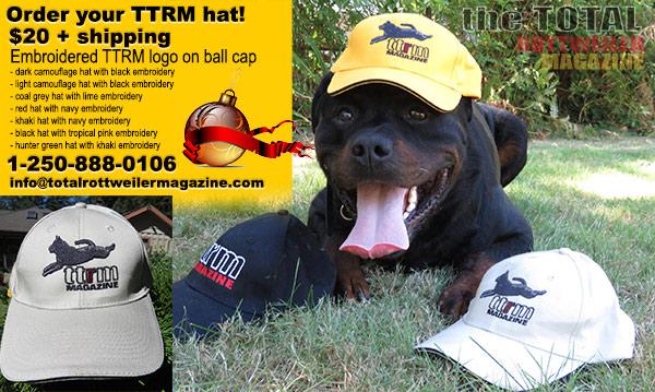 Total Rottweiler Magazine Baseball Hats