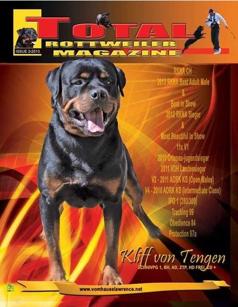 Issue 2 Of 2013 The Total Rottweiler Magazine