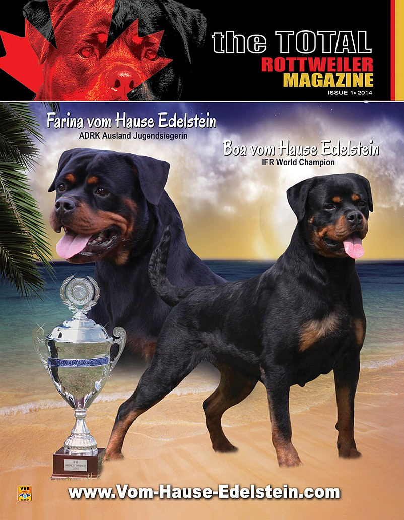 Issue 1 Of 2014 Download The Total Rottweiler Magazine