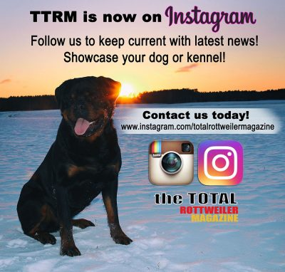 Follow The Total Rottweiler Magazine on Instagram